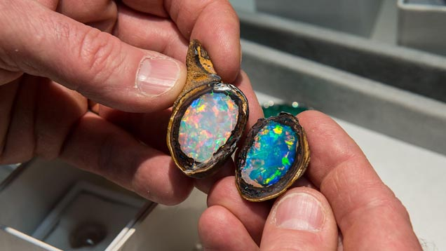Opal in organic material, yowah nut from the collection of The Smithsonian Institution.